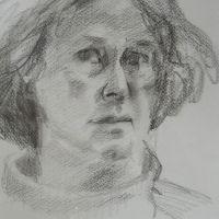 zelfportret getekend